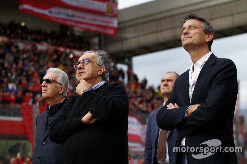 Piero Lardi Ferrari, Ferrari Vice President and Sergio Marchionne, CEO FIAT