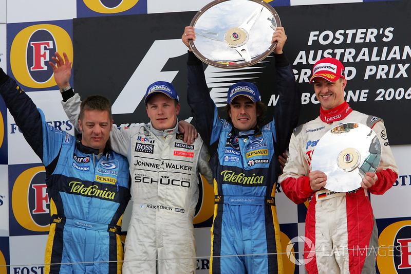 2006: 1. Фернандо Алонсо, 2. Кими Райкконен, 3. Ральф Шумахер