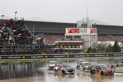Timmy Hansen, Team Peugeot Total, Andreas Bakkerud, EKS Audi Sport, Timur Timerzyanov, GRX Taneco, Gregoire Demoustier, Sebastien Loeb Racing
