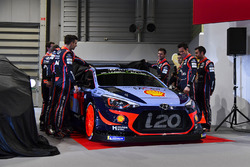 The Hyundai team, including Thierry Neuville, Andreas Mikkelsen, Dani Sordo, Hayden Paddon