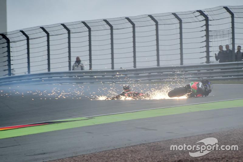 Stefan Bradl, Aprilia Racing Team Gresini accidente