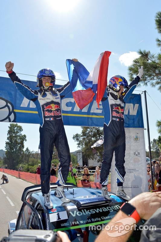 Les vainqueurs Sébastien Ogier, Julien Ingrassia, Volkswagen Polo R WRC, Volkswagen Motorsport
