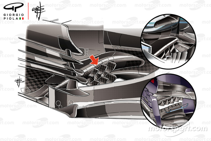 Haas F1 Team VF-18, bargeboard