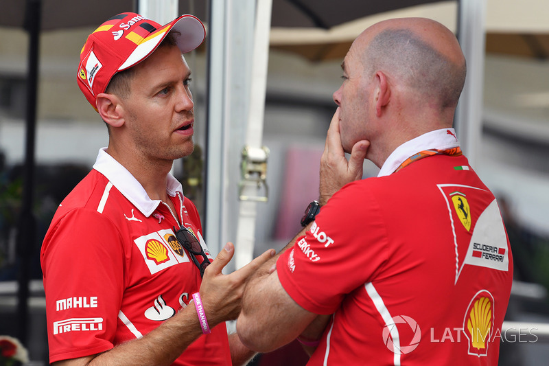 Sebastian Vettel, Ferrari dan Jock Clear, Ferrari Chief Engineer