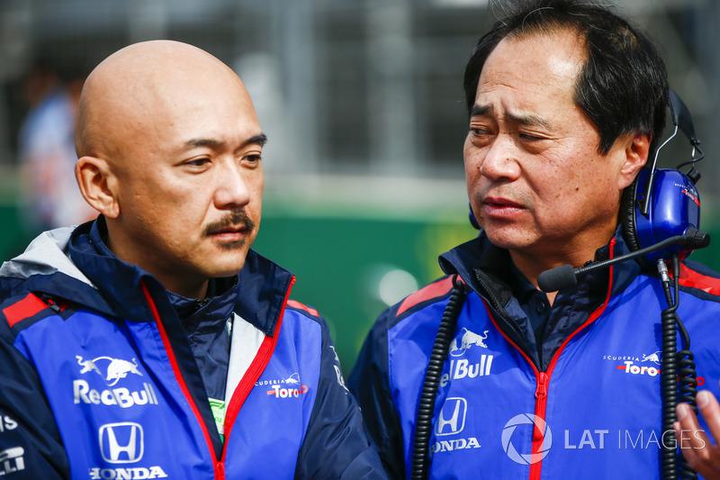Toyoharu Tanabe, F1 Technical Director, Honda (Kanan)