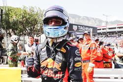Daniel Ricciardo, Red Bull Racing, celebrates pole position