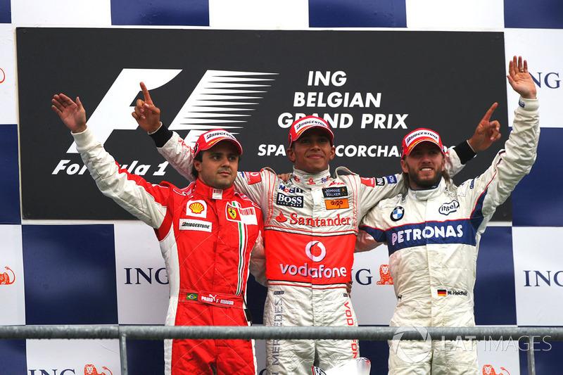 2008: 1. Фелипе Масса, 2. Ник Хайдфельд, 3. Льюис Хэмилтон (штраф)
