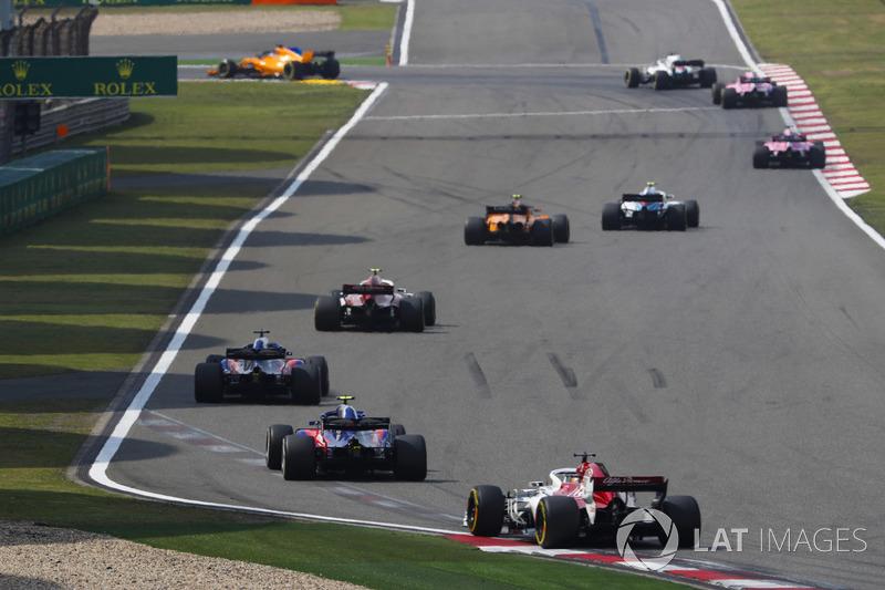 Sergey Sirotkin, Williams FW41 Mercedes, Stoffel Vandoorne, McLaren MCL33 Renault, Charles Leclerc, Sauber C37 Ferrari,Brendon Hartley, Toro Rosso STR13 Honda, Pierre Gasly, Toro Rosso STR13 Honda, e Marcus Ericsson, Sauber C37 Ferrari