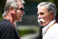 David Tremayne with Chase Carey, Chairman, Formula One