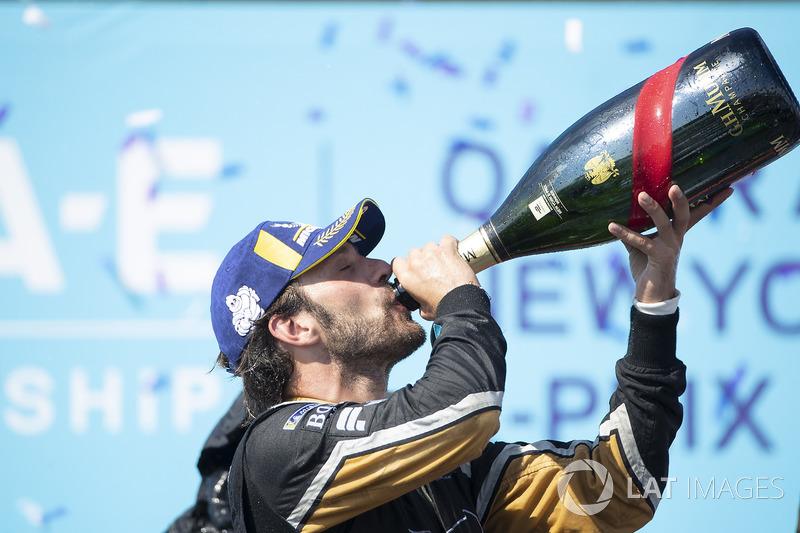 Jean-Eric Vergne, Techeetah, celebra su victoria