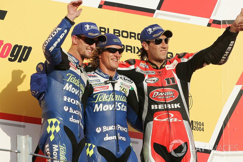 2004: 1. Sete Gibernau, 2. Colin Edwards, 3. Ruben Xaus
