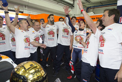Worldchampion Marc Marquez, Repsol Honda Team with the team