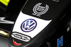 Detail van de auto van Lando Norris, Carlin, Dallara Volkswagen