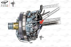 Toro Rosso STR13 front suspension