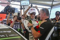 Le vainqueur Ott Tanak, Toyota Gazoo Racing, Tommi Makinen