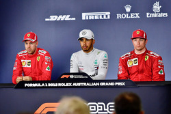 Press Conference: Sebastian Vettel, Ferrari, Lewis Hamilton, Mercedes-AMG F1 and Kimi Raikkonen, Fer