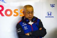 Toro Rosso Honda team member in the garage