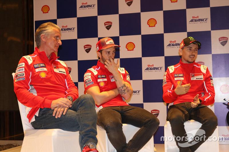 Paolo Ciabatti, Andrea Dovizioso dan Jorge Lorenzo, Ducati Team