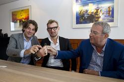 Menno de Jong, Bernhard van Oranje, Hans Ernst bij overname Circuit Park Zandvoort
