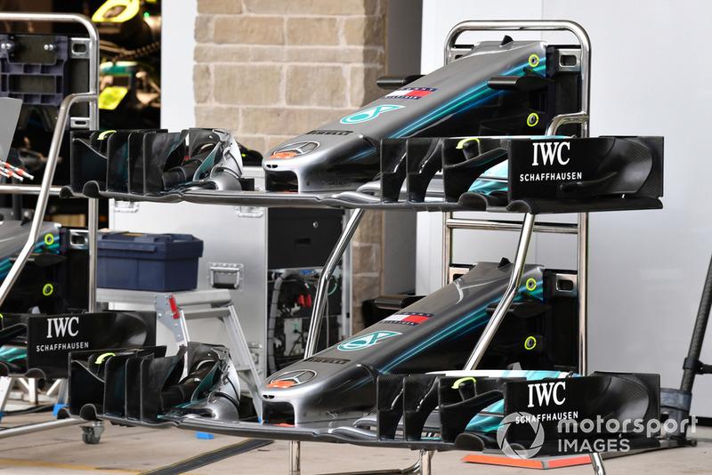 Des nez et ailerons avant de Mercedes-AMG F1 W09 EQ Power +