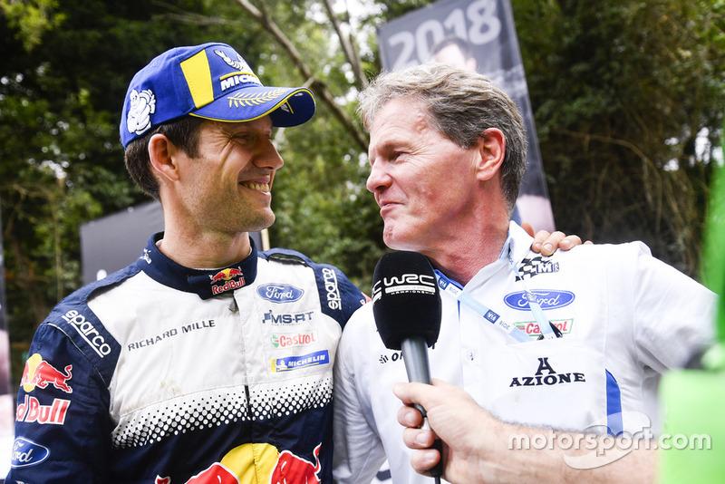 El campeón del mundo 2018: Sébastien Ogier, M-Sport Ford con Malcolm Wilson