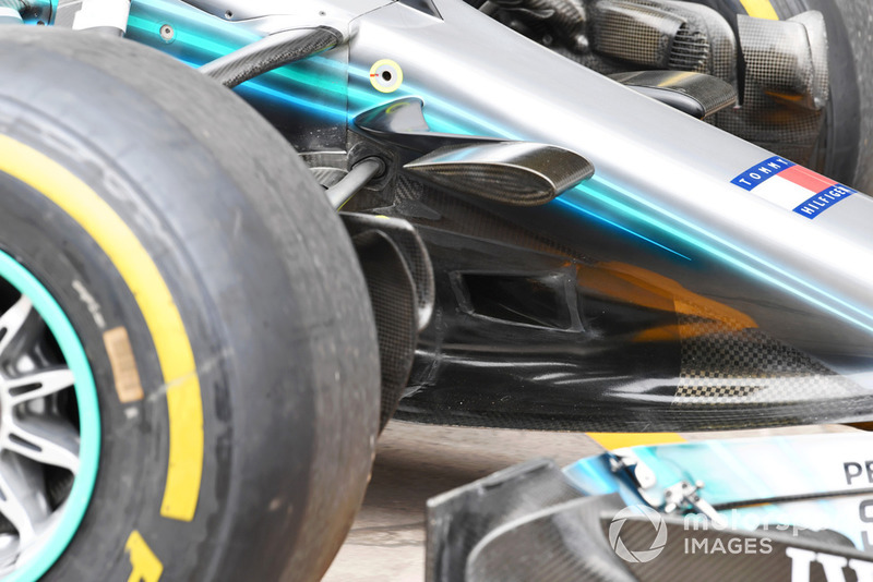 Detalle del morro del Mercedes-AMG F1 W09 EQ Power+