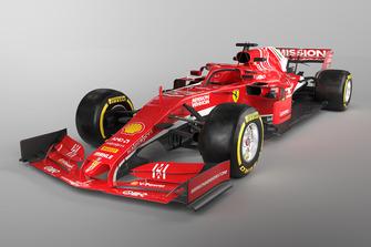 Konzept eines Ferrari für die Formel-1-Saison 2019