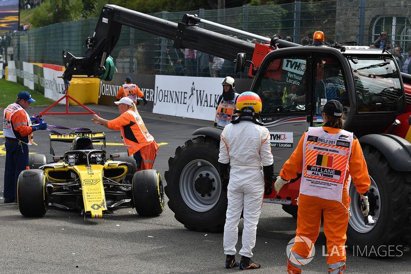 Ніко Хюлькенберг, Renault Sport F1 Team R.S. 18, Фернандо Алонсо, McLaren, потрапили в аварію на старті гонки