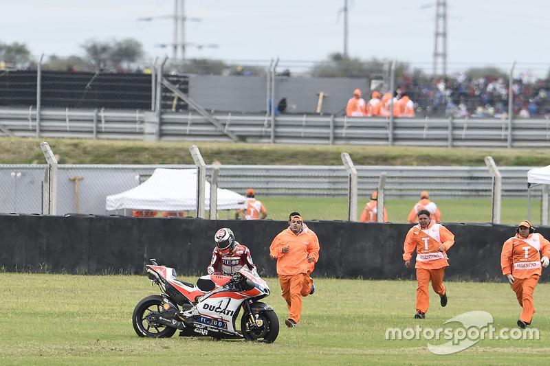 Jorge Lorenzo, 5 kali kecelakaan