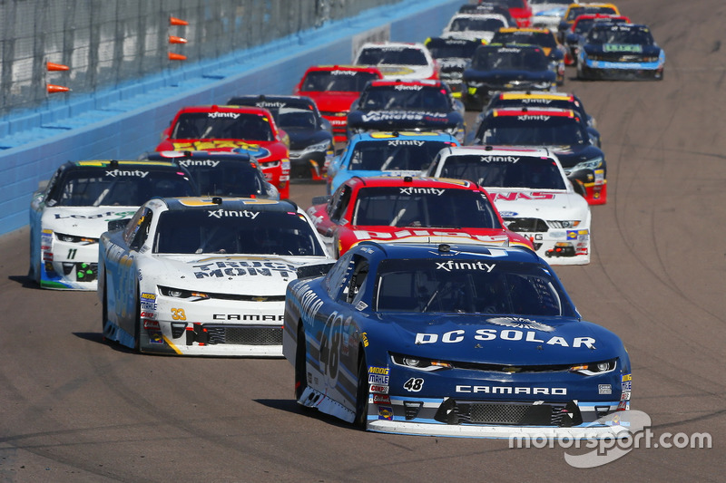 Brennan Poole, Chip Ganassi Racing, Chevrolet; Brandon Jones, Richard Childress Racing, Chevrolet