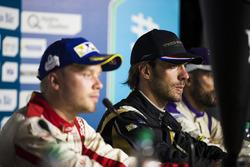 Felix Rosenqvist, Mahindra Racing, Jean-Eric Vergne, Techeetah, and Jose Maria Lopez, DS Virgin Racing, in the press conference