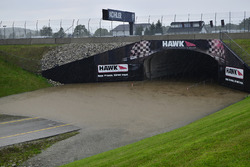 A flooded tunnel at Road America