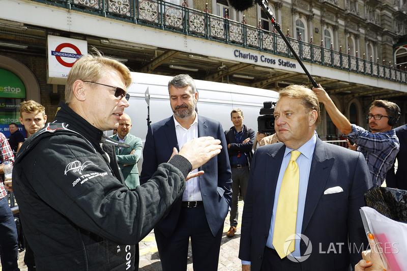 Former 2 times World Champion Mika Hakkinen