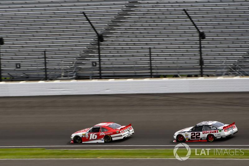 Ryan Reed, Roush Fenway Racing Ford y Joey Logano, Team Penske Ford