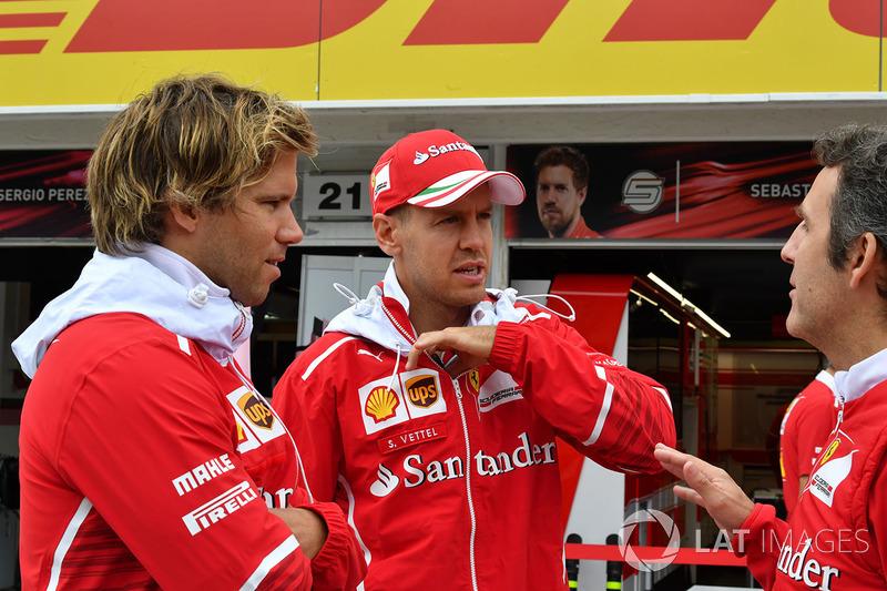 Sebastian Vettel, Ferrari, Antti Kontsas, Fitnesstrainer