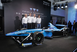 Sebastien Buemi and Nicolas Prost, Renault eDAMS with Alain Prost and Jean-Paul Driot