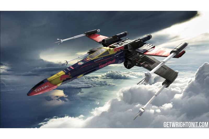X-Wing in Red-Bull-design