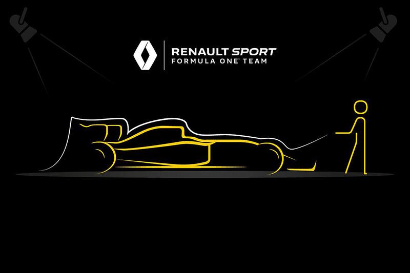 Teaser del Renault F1 Team para el evento de lanzamiento