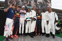 Dida, Louis Saha, Michel Salgado, Christian Karembeu, Francesco Toldo, Daniel Ricciardo, Red Bull Racing, Esteban Ocon, Sahara Force India F1, Max Verstappen, Red Bull Racing and Sergio Perez, Sahara Force India