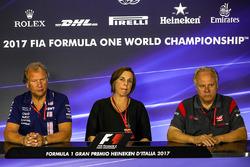 Robert Fearnley, Stellvertretender Force-India-Teamchef, Claire Williams, Stellvertretende Williams-Teamchefin, Gene Haas, Haas-Teambesitzer