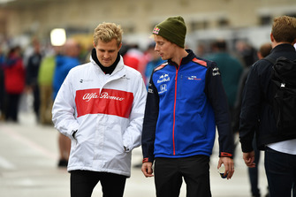 Marcus Ericsson, Alfa Romeo Sauber F1 Team and Brendon Hartley, Toro Rosso