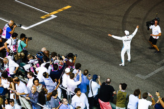 Lewis Hamilton, Mercedes AMG F1, 1st position, celebrates after the race