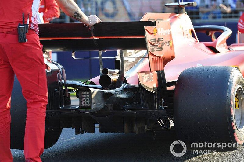 La monoposto di Sebastian Vettel, Ferrari SF90, dopo le qualifiche