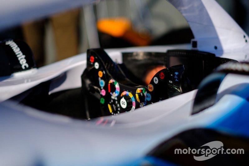 Williams FW42, steering wheel detail