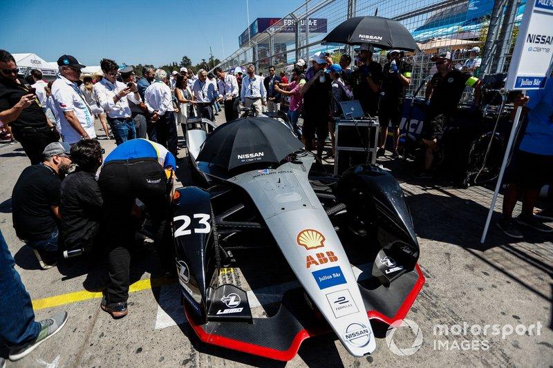 Sébastien Buemi, Nissan e.Dams, Nissan IMO1, in griglia di partenza