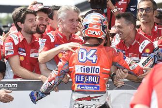 Pole sitter Andrea Dovizioso, Ducati Team, Ciabatti
