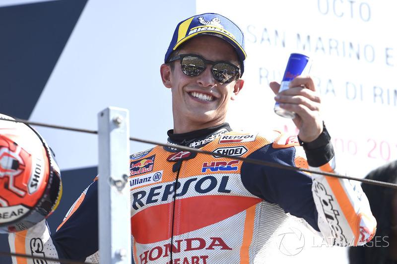 Podio: segundo clasificado Marc Marquez, Repsol Honda Team