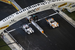Team Nordic Tom Kristensen, races Team Germany Sebastian Vettel, driving the Radical SR3 RSX