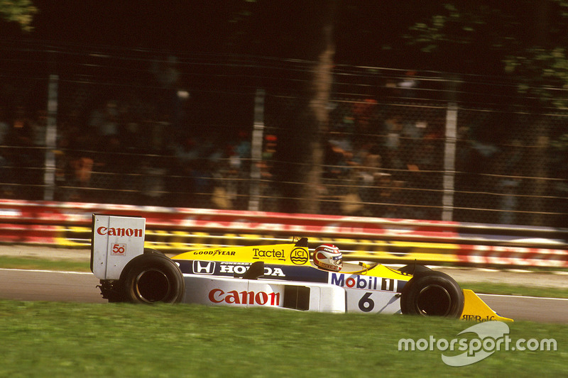#6: Nelson Piquet, Williams FW11B, Honda