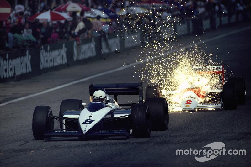 1987 - Andrea de Cesaris, Brabham, devance Stefan Johansson, McLaren